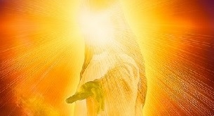 After his ascension into heaven, Jesus' resurrection body was further glorified according to Revelation 1:13-16 such that it resembled the image of the Father and the heavenly host—shinning like blazing fire.