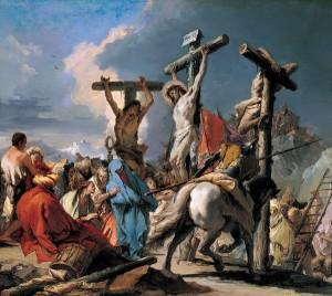 Christ on the Cross. Matt 18:22 fulfilled commentary