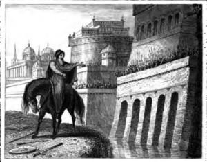 Josephus Pleading Before the Walls of Jerusalem Deuteronomy 28:22