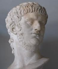 A bust of Nero Caesar. After Nero committed suicide, Rome collapsed into civil war.