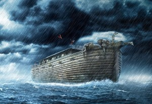 Noah's flood represents a return to the water world of Genesis 1:1-10 before the creation of the earth.