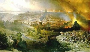 Roberts, David. The Siege and Destruction of Jerusalem by the Romans Under the Command of Titus, A.D. 70 . 1850. Yeshiva University Museum, New York.