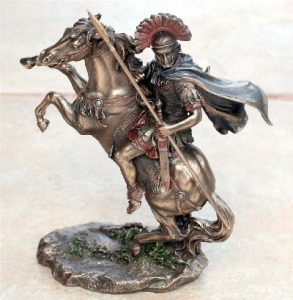 The Roman soldier with his standard-issue spear looks like a scorpion.