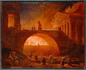 Revelation 19:3 burning of city