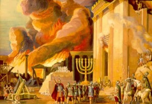 The siege of Jerusalem divided the Jewish War into fairly equal 3.5 year intervals.  During this siege, the Romans destroyed the city and sanctuary and worshiped idols on the eastern gate of the Temple.