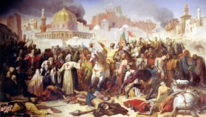 gig and magog: the Conquest of Jerusalem by the Crusaders.