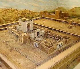 Model of the temple that was destroyed in A.D. 70.