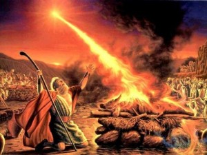 Preterist commentary on Revelation 13:11, the Roman beast like Elijah called fire down from heaven,