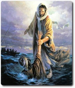 Matthew 14-25-33: A Preterist Commentary drawing Peter out of teh water
