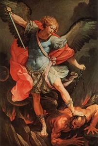 The Archangel Michael defeating Satan, Acts 1:6-7, 9-11: A Preterist Commentary