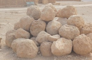 Revelation 16:21 Commentary: The Hundred Pound Hailstones of v. 21 were the Hundred Pound Boulders Launched by Roman Catapults during the Siege of Jerusalem. These Stones were White like Hail.