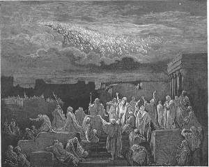 Dore, Gustave. The Army Appears in the Heavens (II Maccabees 5:1-4)