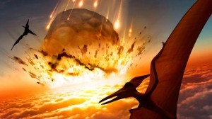65 million years ago an asteroid landing in the Gulf of Mexico appears to have caused the extinction of the dinosaurs.