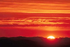"Could the sun, representing Satan, as it descends from the apex of the sky to surface of the earth at sunset be a symbol of the fact that Satan had lost his authority in heaven and been ""thrown down to the earth"" like the sun at sunset as predicted in Revelation 12:9?"