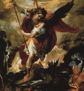 michael conqering Satan