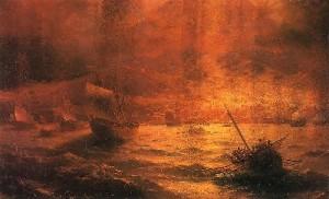Ivan Aivazovsky Destruction of Pompeii 1889 Rostov Art Museum