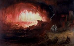 Martin, John. Destruction of Pompeii and Herculaneum (restored-version) Tate Britain. 1821.