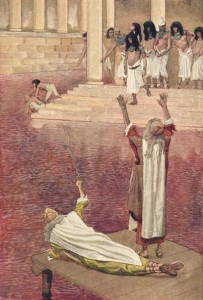 Tissot, James. Water Is Changed into Blood.