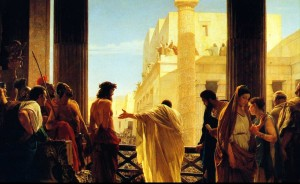 Jesus before Pilate preterism commentary on Matthew 22:6