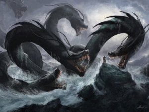The seven-headed sea beast of Revelation is the many-headed sea monster called the leviathan or hydra.