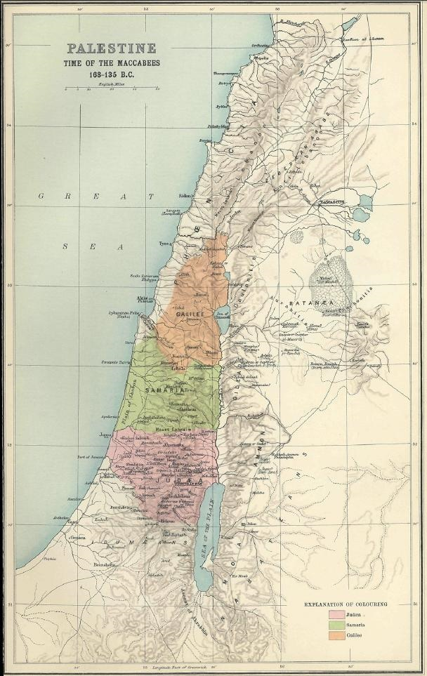 Palestine during the time of the Maccabees (168-135 B.C.)
