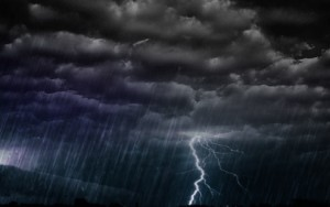 All the Biblical signs mentioned above pointing to the presence of God on the clouds were recorded at the arrival of the Idumean army in A.D. 68: a prodigious storm, very strong winds, great showers of rain, lightning, terrible thunder and a loud earthquake.