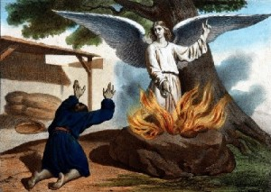 The miracle in which the angel of the Lord makes fire come forth from a rock and then disappears--presumably returning to heaven—in Judges 6:21 is a resurrection motif fulfilled in the resurrection during the eruption of Vesuvius.